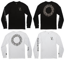 RVCA Crew Neck Long Sleeves Cotton Logos on the Sleeves