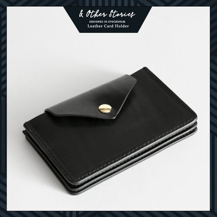 Plain Leather Bold Card Holders