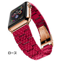 Casual Style Unisex Stainless Apple Watch Belt Watches