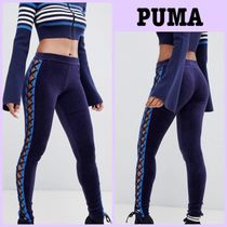 PUMA Velvet Street Style Plain Leggings Pants