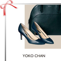 YOKOCHAN Plain Elegant Style High Heel Pumps & Mules