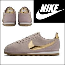 Nike CORTEZ Rubber Sole Casual Style Plain Low-Top Sneakers