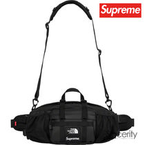 Supreme Street Style Collaboration Plain Leather Bags