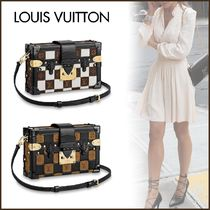 Louis Vuitton PETITE MALLE Other Check Patterns Canvas Blended Fabrics 2WAY Bi-color