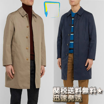 Stand Collar Coats Plain Coats