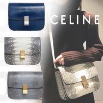 CELINE Classic 2WAY Other Animal Patterns Leather Elegant Style