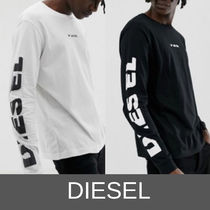 DIESEL Pullovers Street Style Plain Cotton T-Shirts