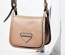 PRADA CONCEPT  Plain Leather Elegant Style Shoulder Bags