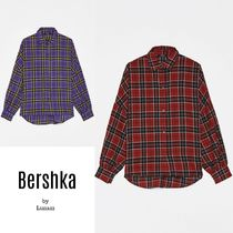 Bershka Other Check Patterns Casual Style Medium Oversized