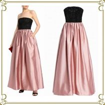 VALENTINO Flared Plain Long Party Style Dresses