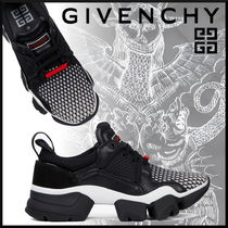 GIVENCHY Blended Fabrics Street Style Bi-color Leather Sneakers