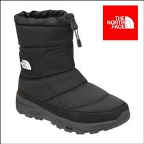 THE NORTH FACE Nuptse Plain Toe Mountain Boots Unisex Street Style Plain