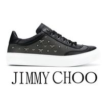 Jimmy Choo Star Studded Street Style Leather Sneakers
