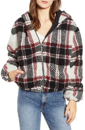 Casual Style Blended Fabrics Jackets