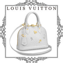 Louis Vuitton ALMA Heart Studded 2WAY Leather Elegant Style Handbags