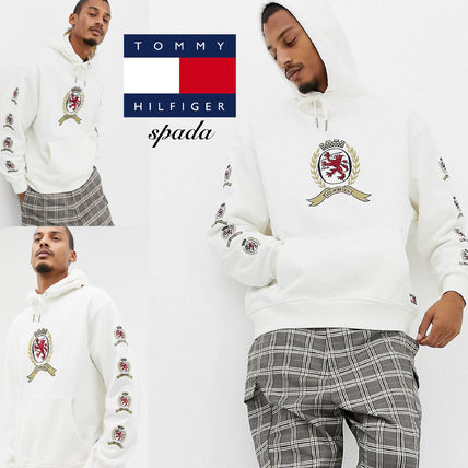 Tommy Hilfiger Hoodies Pullovers Sweat Street Style Bi-color Long Sleeves Hoodies