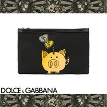 Dolce & Gabbana Nylon Other Animal Patterns Clutches