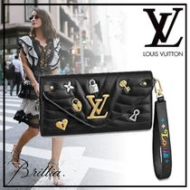 Louis Vuitton Heart Star Blended Fabrics Leather With Jewels Long Wallets
