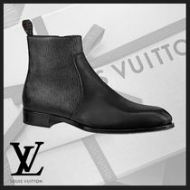 Louis Vuitton EPI Plain Toe Plain Leather Boots