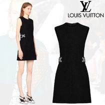 Louis Vuitton Short Wool Sleeveless Plain Elegant Style Dresses