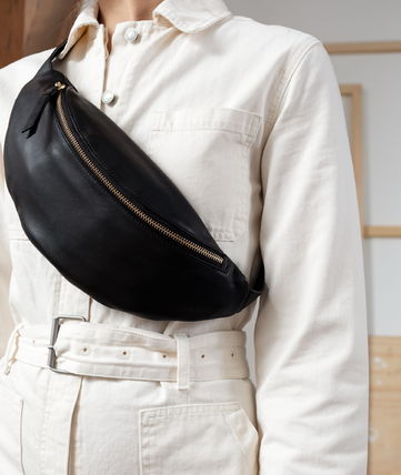 Casual Style Unisex Leather Crossbody Hip Packs