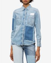 Calvin Klein Casual Style Denim Long Sleeves Shirts & Blouses