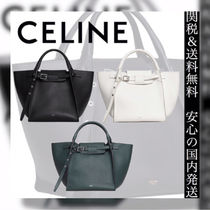 CELINE Casual Style 2WAY Plain Leather Totes
