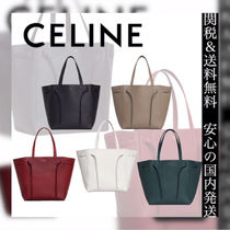 0c3f1dc5a1a1 CELINE Cabas Phantom Casual Style 2WAY Plain Leather Totes