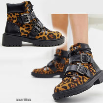 ASOS Leopard Patterns Casual Style Faux Fur Blended Fabrics