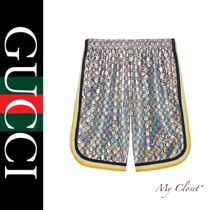 GUCCI Printed Pants Stripes Street Style Oversized Shorts