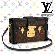 Louis Vuitton PETITE MALLE Monogram Blended Fabrics 2WAY Leather Elegant Style