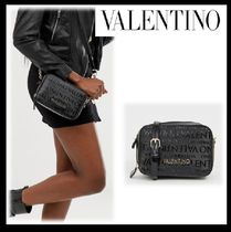 VALENTINO Casual Style Blended Fabrics Street Style Shoulder Bags