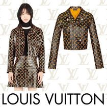 Louis Vuitton Short Monogram Leather Biker Jackets
