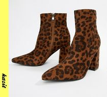 ASOS Leopard Patterns Casual Style Faux Fur Ankle & Booties Boots