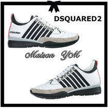 D SQUARED2 Stripes Leather Sneakers