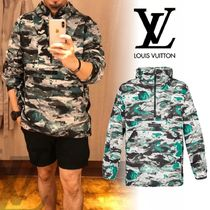 Louis Vuitton Camouflage Long Sleeves Hoodies