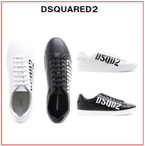 D SQUARED2 Unisex Blended Fabrics Street Style Bi-color Leather