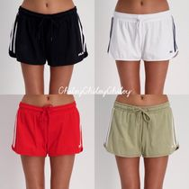 FILA Short Casual Style Street Style Cotton Denim & Cotton Shorts