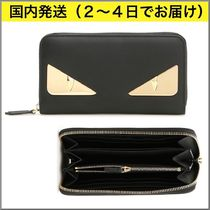 FENDI BAG BUGS Street Style Long Wallets