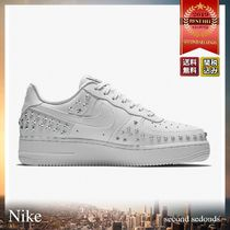 Nike AIR FORCE 1 Star Unisex Studded Street Style Leather Sneakers