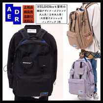 ADERERROR Casual Style Unisex Street Style A4 2WAY Plain Backpacks