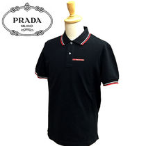 PRADA Cotton Short Sleeves Polos