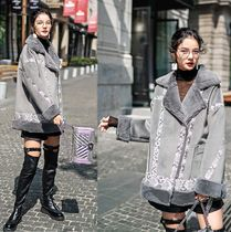 Short Suede Fur Leather Jackets Oversized