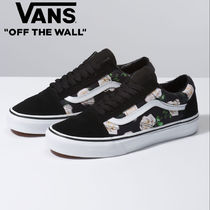 VANS OLD SKOOL Flower Patterns Lace-up Casual Style Unisex Street Style