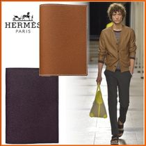 HERMES Blended Fabrics Passport Cases