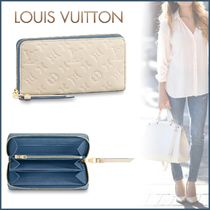 Louis Vuitton ZIPPY WALLET Monogram Blended Fabrics Bi-color Leather Long Wallets