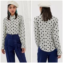 Sister Jane Star Casual Style Street Style Long Sleeves Plain
