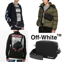 Off-White Unisex Nylon Street Style Plain Hip Packs