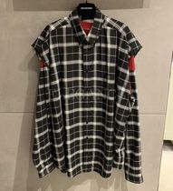 BALENCIAGA Other Check Patterns Casual Style Unisex Street Style