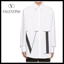 VALENTINO Long Sleeves Cotton Oversized Shirts